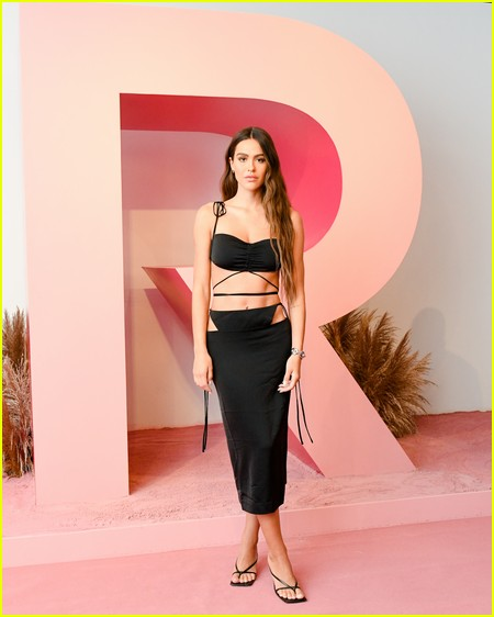 Amelia Hamlin at the Revolve Gallery event during NYFW