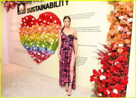Rachael Kirkconnell at the Revolve Gallery event during NYFW