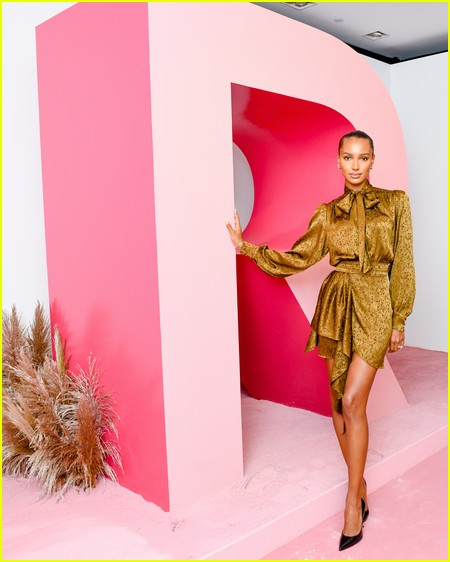Jasmine Tookes at the Revolve Gallery event during NYFW