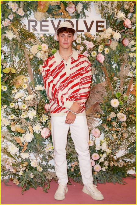 Noah Beck at the Revolve Gallery event during NYFW