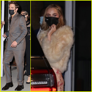 Robert Pattinson & Suki Waterhouse Head Home After Attending Academy Museum of Motion Pictures Premiere Party