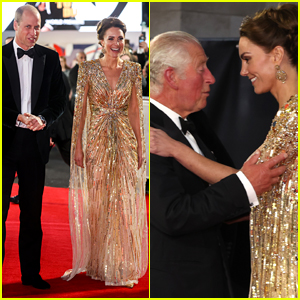 Kate Middleton & Prince William Have a Royal Date Night at 'No Time to Die' Premiere