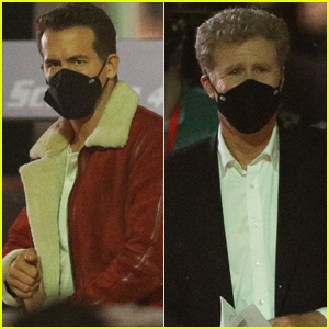 Ryan Reynolds Wears Santa-Like Costume While Filming Christmas Movie 'Spirited' with Will Ferrell