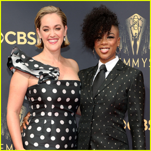 Nominee Samira Wiley & Wife Lauren Morelli Pose on the Emmys 2021 Red Carpet