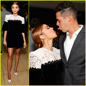 Sarah Hyland Pokes Her Tongue Out At Fiance Wells Adams During NextGen's Summer Party