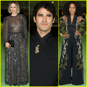 Sarah Paulson, Darren Criss, & Angela Bassett Hit the Red Carpet at Academy Museum of Motion Pictures Opening Gala