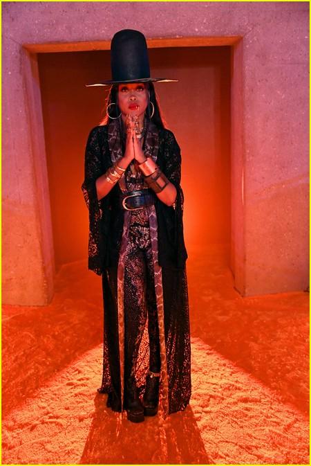 Erykah Badu at the Savage X Fenty Show Vol. 3