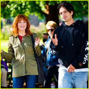 Sebastian Stan & Julianne Moore Get to Work Filming 'Sharper' in NYC