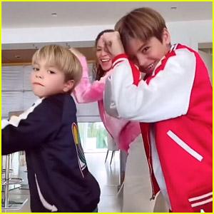 Shakira Dances With Sons Milan & Sasha In Fun New TikTok!