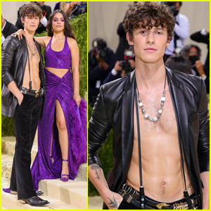 Shawn Mendes Brings the Heat Going Shirtless for Met Gala 2021 with Camila Cabello