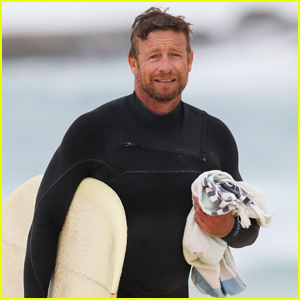 Simon Baker Hits the Beach to Do Some Surfing in Sydney