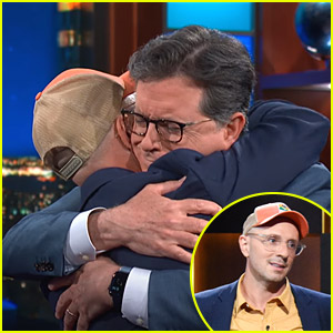 'Blue's Clues' Steve Burns Gives Stephen Colbert A Hug After Going Viral