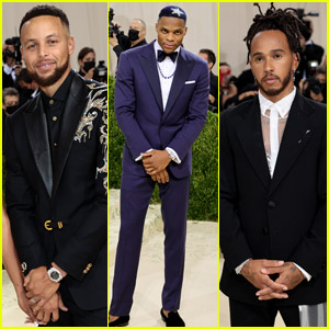Stephen Curry, Russell Westbrook, Lewis Hamilton & More Step Out for the Met Gala 2021