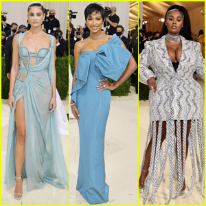 Taylor Hill, Jasmine Tookes, Precious Lee & More Strut Their Stuff on the Met Gala 2021 Red Carpet