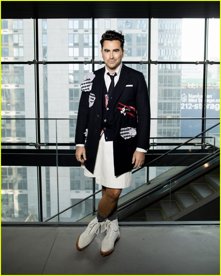 Dan Levy at the Thom Browne NYFW Show