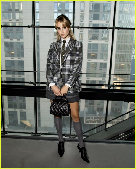Grace Van Patten at the Thom Browne NYFW Show