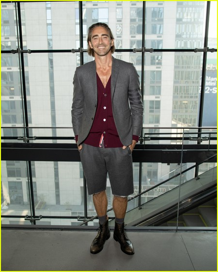 Lee Pace at the Thom Browne NYFW Show