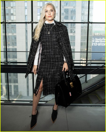Lindsey Vonn at the Thom Browne NYFW Show