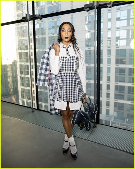 MJ Rodriguez at the Thom Browne NYFW Show
