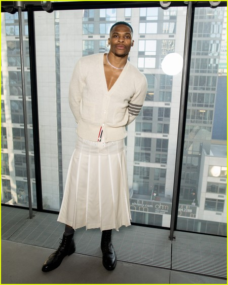 Russell Westbrook at the Thom Browne NYFW Show