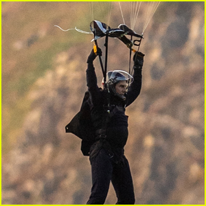 Tom Cruise Parachutes From a Helicopter While Filming Insane 'Mission: Impossible 7' Stunt!