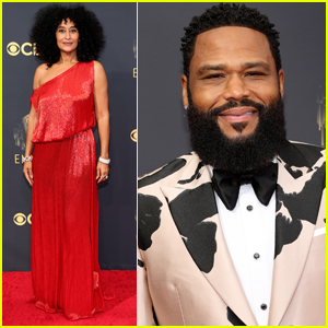 Tracee Ellis Ross & Anthony Anderson Arrive in Style for Emmy Awards 2021