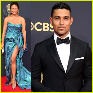 'NCIS' Stars Wilmer Valderrama & Vanessa Lachey Hit The Red Carpet at the Emmy Awards 2021