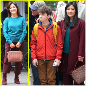 Constance Wu & Winslow Fegley Spend the Day on the Set of 'Lyle, Lyle, Crocodile' in NYC