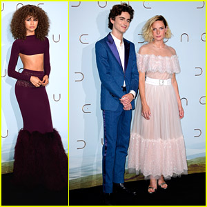 Zendaya Joins Timothee Chalamet & Rebecca Ferguson at 'Dune' Paris Premiere