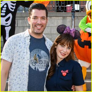 Zooey Deschanel & Boyfriend Jonathan Scott Celebrate Halloween Time at Disneyland