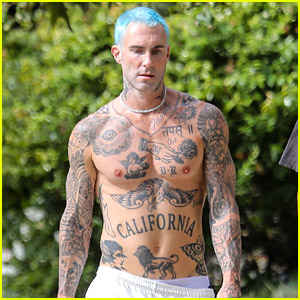 Adam Levine Puts His Many Tattoos on Display While Shirtless After a Workout! (Photos)