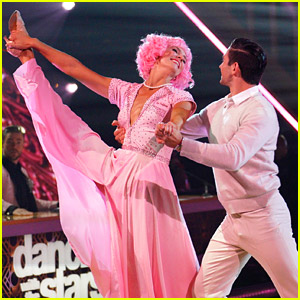 Amanda Kloots Earns a Near-Perfect Score on 'DWTS' Grease Night After Derek Hough Deducts a Point (Video)
