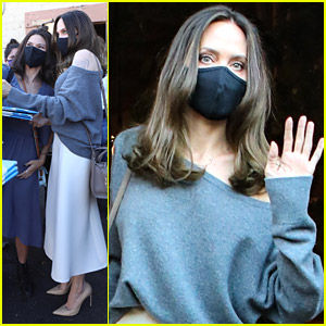 Angelina Jolie Makes Time For Fans After A Book Signing in LA