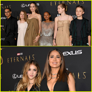 Angelina Jolie & Salma Hayek Reveal What Their Kids Thought of 'Eternals'
