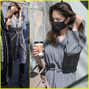 Angelina Jolie Goes Shopping Solo At Vintage Store Following Dinner with Jonny Lee Miller