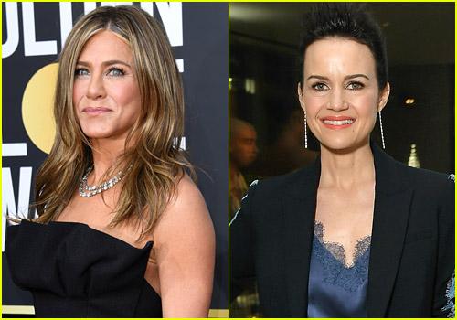 Jennifer Aniston and Carla Gugino