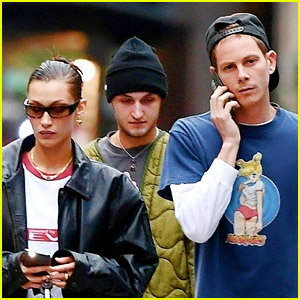 Bella Hadid & Boyfriend Marc Kalman Spotted Hanging Out with Her Brother in NYC