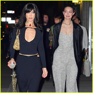Bella Hadid Heads Out for the Night to Celebrate Her 25th Birthday with Sister Gigi Hadid!