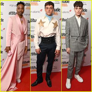 Billy Porter & Tom Daley Hit The Red Carpet For Attitude Awards 2021