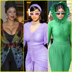 Cardi B Shows Off Her Style During Paris Fashion Week