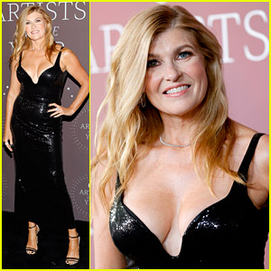 Connie Britton Is Simply Stunning in Black at CMT Artist of The Year Honors