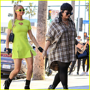 Demi Lovato Shops For Halloween Costumes With Paris Hilton