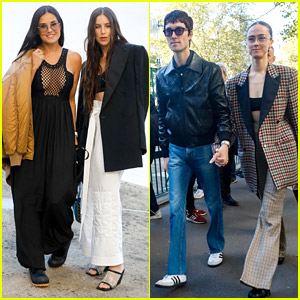 Mother & Daughter Pair Demi Moore & Scout Willis Look So Stylish at Stella McCartney's Paris Fashion Show