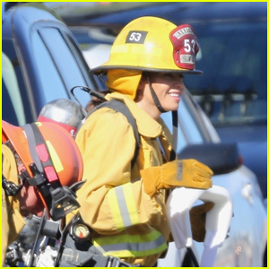 Jenna Dewan Films Scenes as a Firefighter on the Set of 'The Rookie'