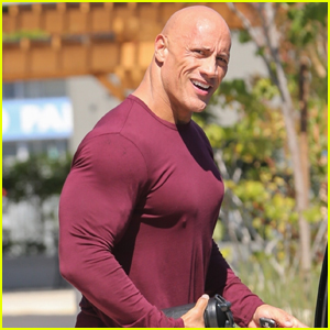 Dwayne Johnson Heads Home After His Morning Workout