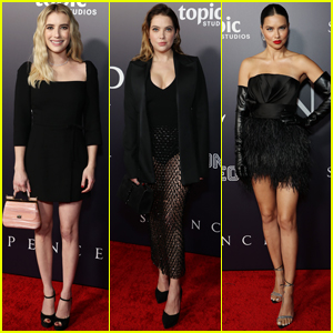 Emma Roberts, Ashley Benson, & More Stars Attend 'Spencer' Premiere in L.A.