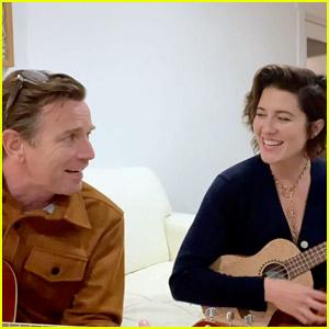 Ewan McGregor Sings With Wife Mary Elizabeth Winstead While Hosting Go Gala 2021
