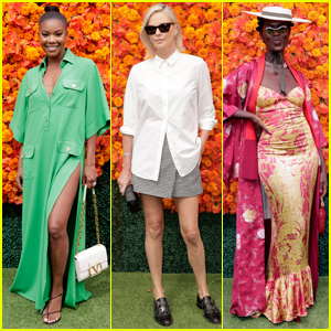 Gabrielle Union, Charlize Theron, & Jodie Turner-Smith Arrive in Style for Veuve Clicquot Polo Classic 2021