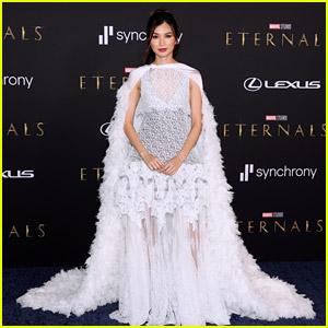 Gemma Chan Wows in Louis Vuitton at 'Eternals' L.A. Premiere