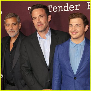 George Clooney, Ben Affleck, Tye Sheridan & Lily Rabe Premiere Their New Movie 'The Tender Bar' in L.A.